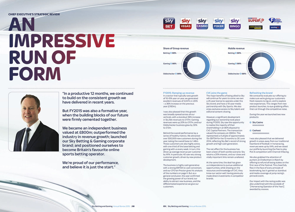 Emperor Design: Sky Bet Annual Review