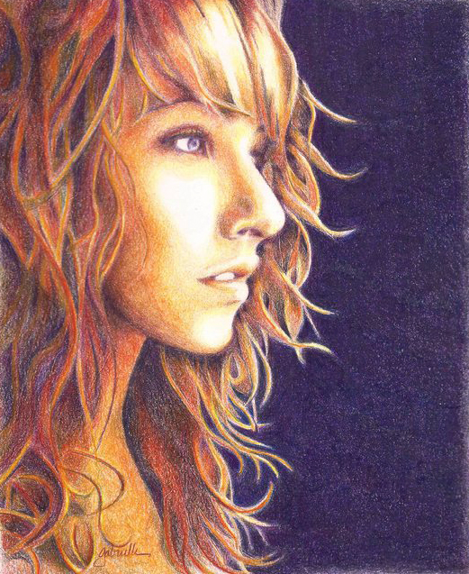 MacKenzie - Colored Pencil - SOLD