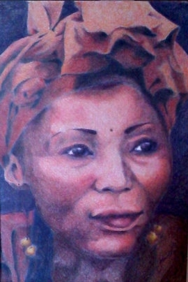 African Woman - Colored Pencil - SOLD