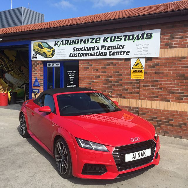 Allan dropped off his Audi TT this morning for our Summer Detail leaving the car in showroom condition inside and out. 👌🏼❤️ Prices start from £120.  All exterior surfaces are deep cleaned, contaminants removed, and protected using AM DETAILS from start to finish 👌🏼 this little beauty is now prepared and protected for the harsh road conditions with a finish that is easy to maintain.  #karbonizekustoms#averydennison#lovecars#springprotectiondetail#carsofinstagram #cargasm #cars #vinylwrapping #paintptotectionfilm #ppf #detailing #machinepolish #maintenancevalet #paintisdead #waxisdead #amdetailing#scotland #authoriseddetailer