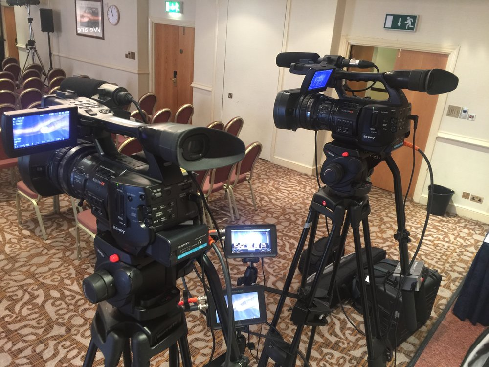 On Location ready to film a conference -