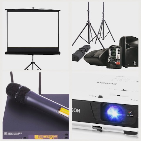 Audio Visual Equipment Hire -