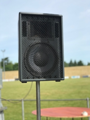 Outdoor PA System Audio visual equipment hire