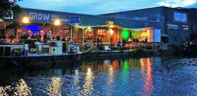 canalside at night