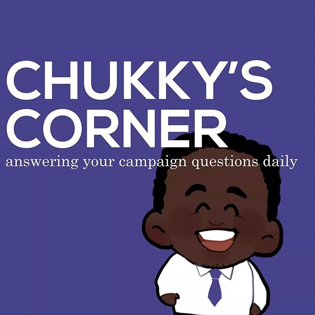 We've answered all your questions this week. Check out www.chukkyibe.com for all the details. #ChukkysCorner