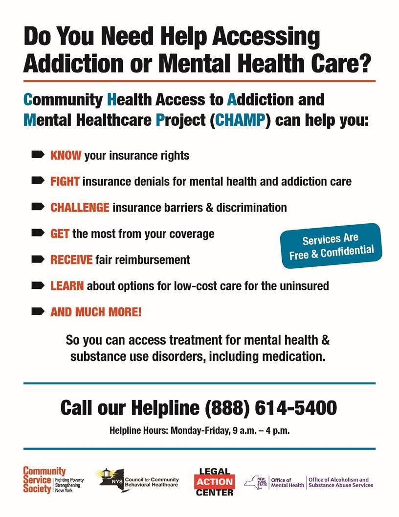 Nys Behavioral Health Ombuds Program Releases New Flyer Nyaprs