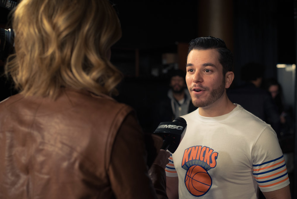 NY KNICKS & RANGERS - HOW WE HELPED THIS DESIGNER REACH 40,000 FANS AT THE WORLD'S MOST FAMOUS ARENA