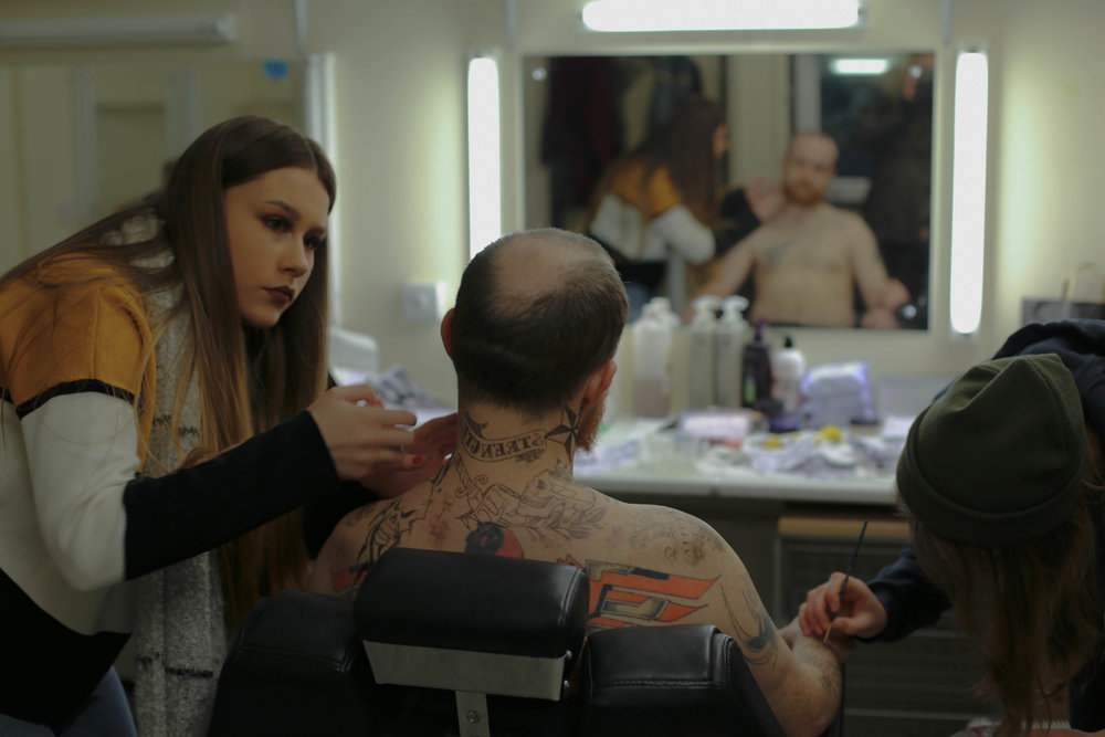 Make-up artist: Taylor; Malcolm: Max Attaway