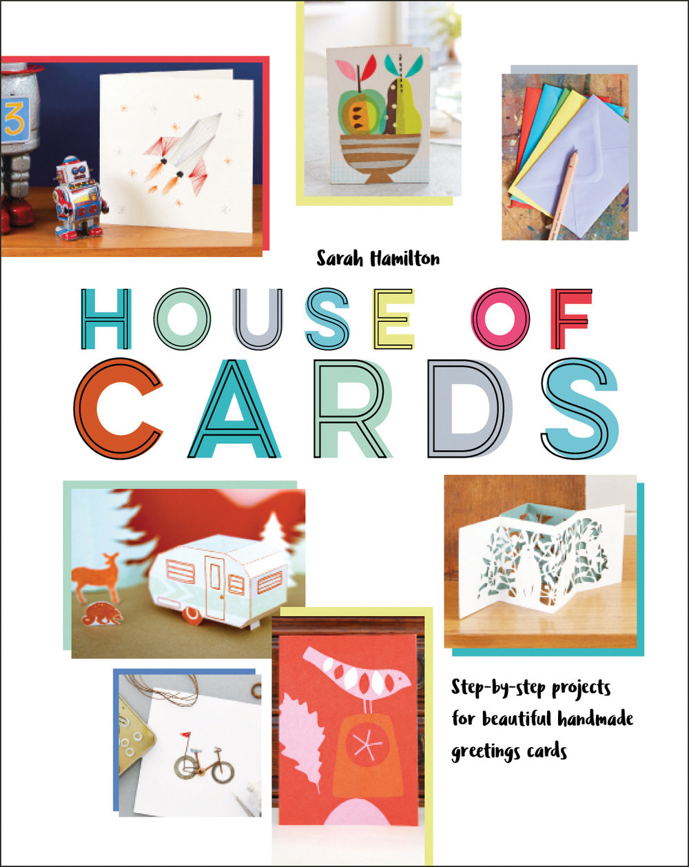 Have you ever wanted to find out about the ins and outs of selling your own handmade cards? We are a nation of card givers, greetings cards punctuate and chronicle our lives, House of Cards by artist Sarah Hamilton is a book that celebrates the greeting card industry as well as showing you how to become part of it using your own designs.  It is an attractive book full of fresh bright visuals and shows you how to make money from your art. Full of sassy know how, packed with expert tips and advice from practising artists, it's a designers must have manual. A practical as well as informative book it helps short circuit some of the hard work of starting out selling your own cards.