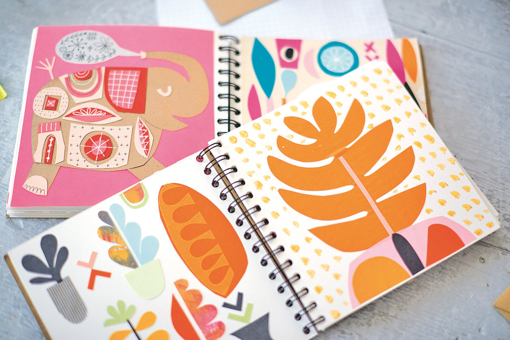 Artwork by Lynn Guinta mage by Kevin Cozad  To get you started on your own creative journey the second section has 10 exciting practical easy to follow step by step projects introducing many techniques such as lino, screen printing and decoupage. Show casing ten artists it gives us the unique opportunity of having a private glimpse into the artist working studio. The book is generous and each case study starts with a short piece about the artist as well as hints on tools and techniques and inspiration to help you create your own personal artwork.