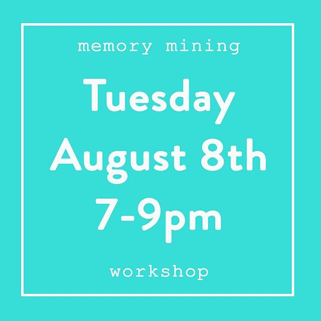 Ticket link in bio 👆🏻 Come write with us this Tuesday night. We'll do guided meditation and learn a few tricks for outwitting the inner critic while we dig through the mind. Sounds pretty rad, right?