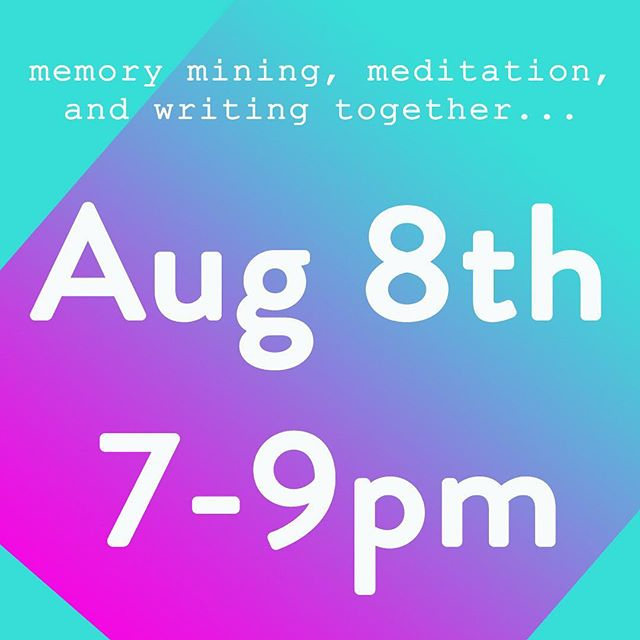Tuesdays are for writing together and visiting our memories with kindness. Come hang out with us and write to help the healing process.  Reserve your spot. Link in bio 🌔