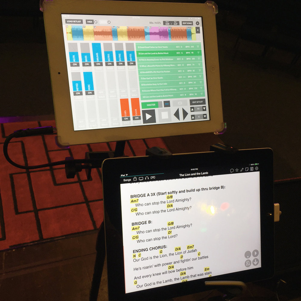 Our new multi-track, iPad software.