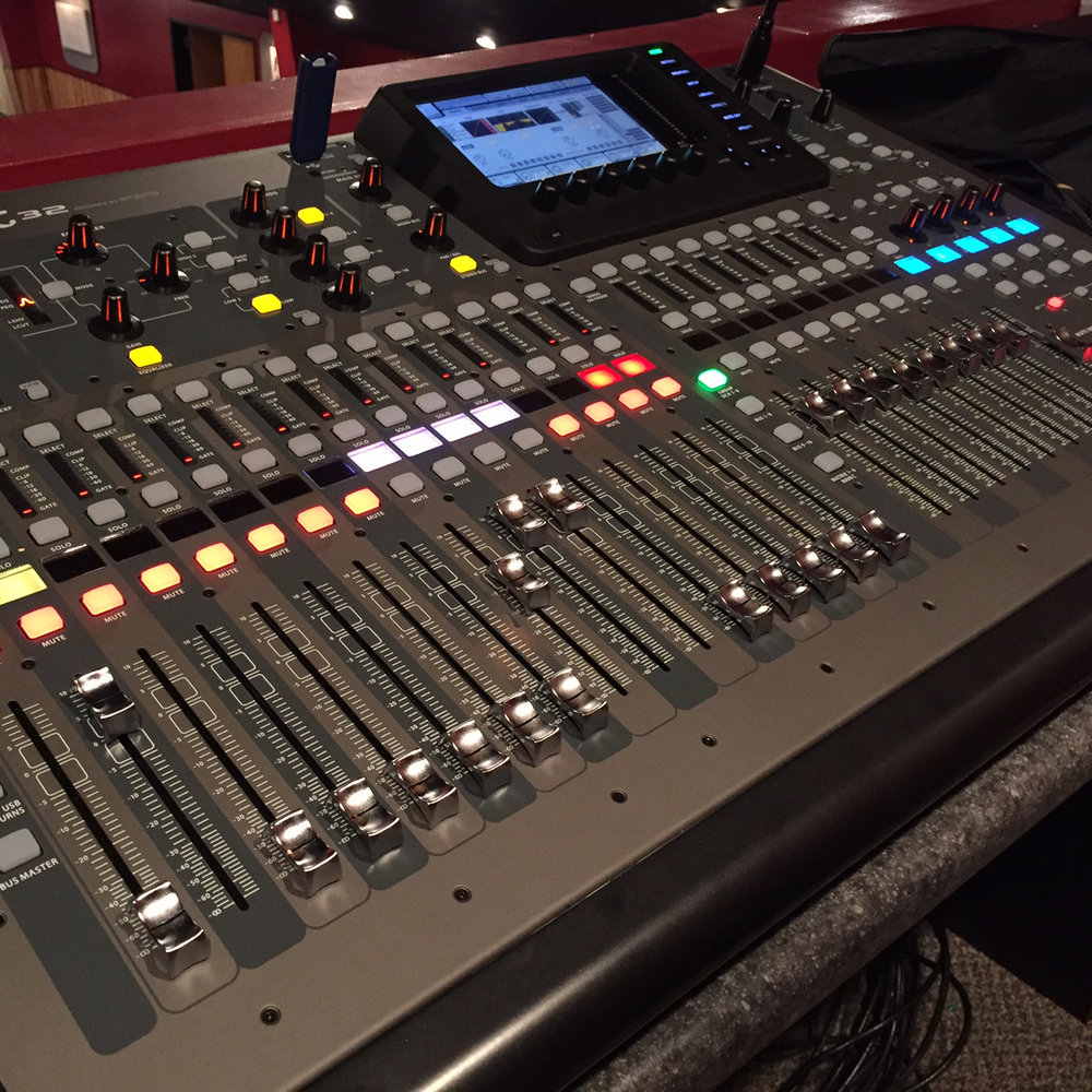 Our new Behringer X32 digital board.