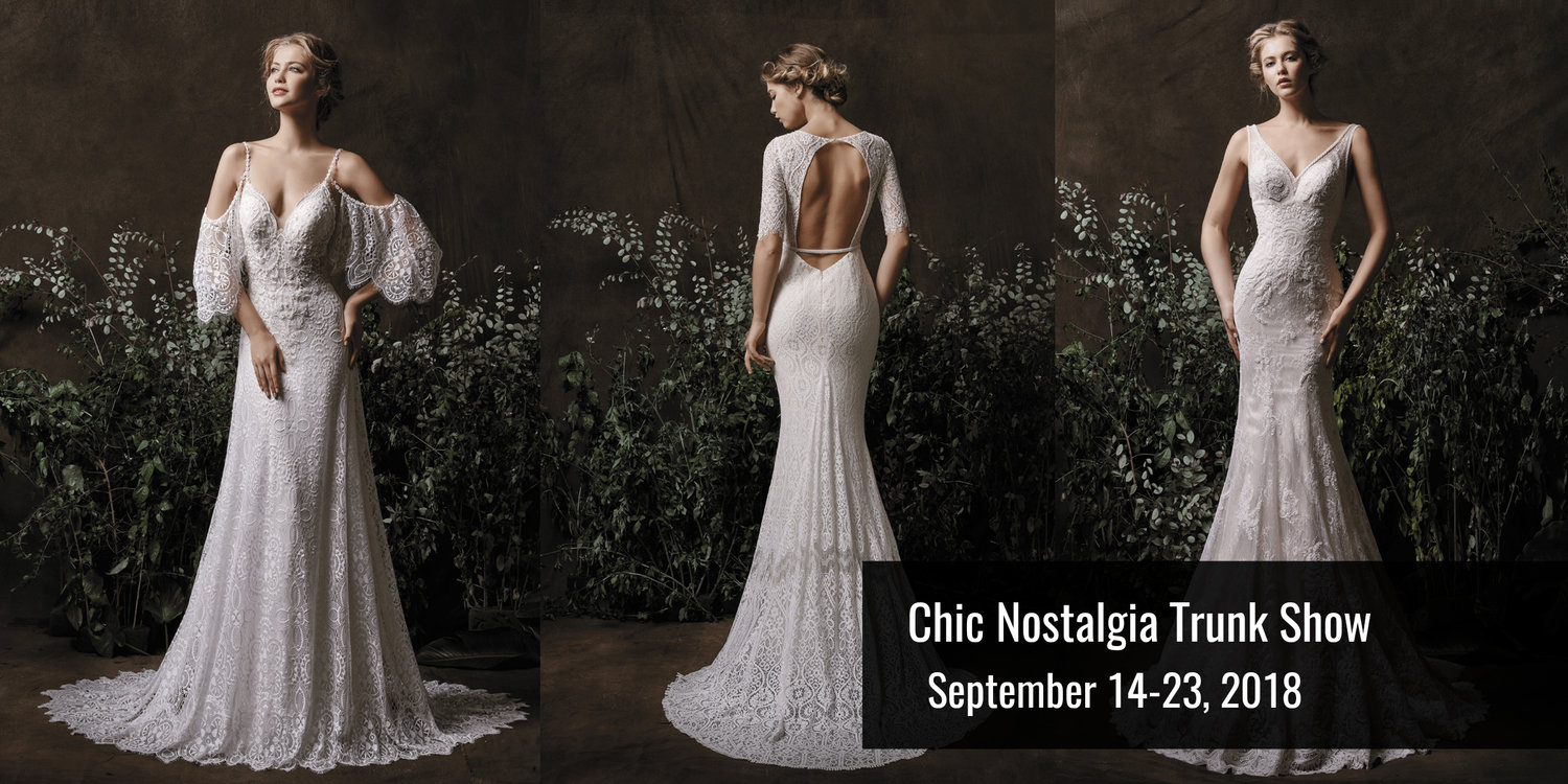 Chic Nostalgia Bridal Gown Trunk Show