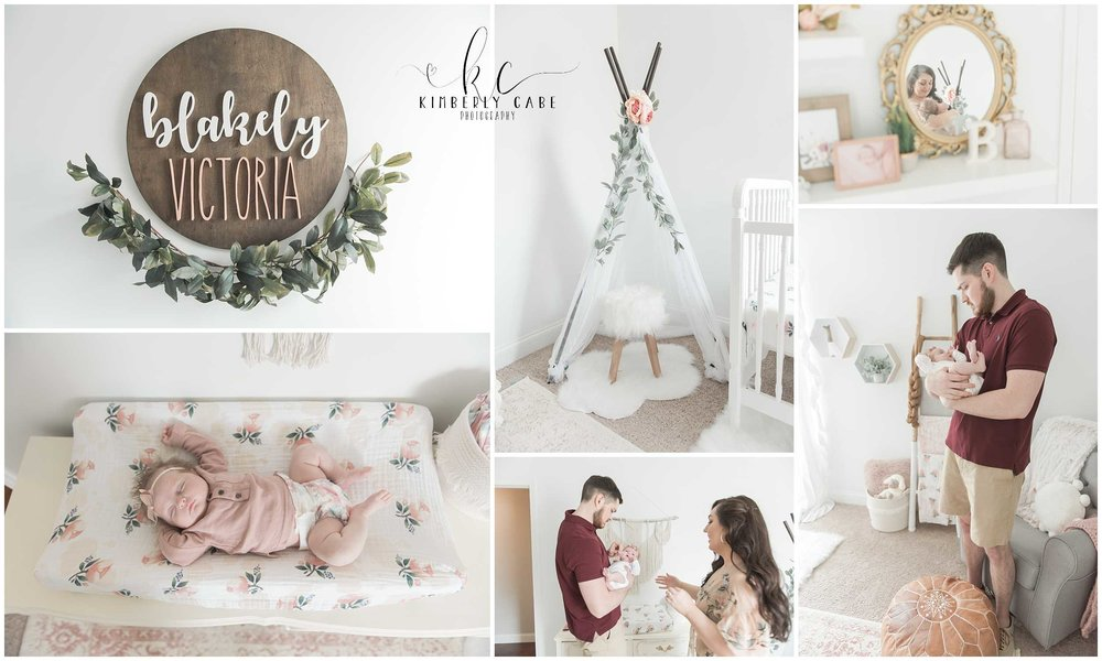 in home newborn session Greenville SC