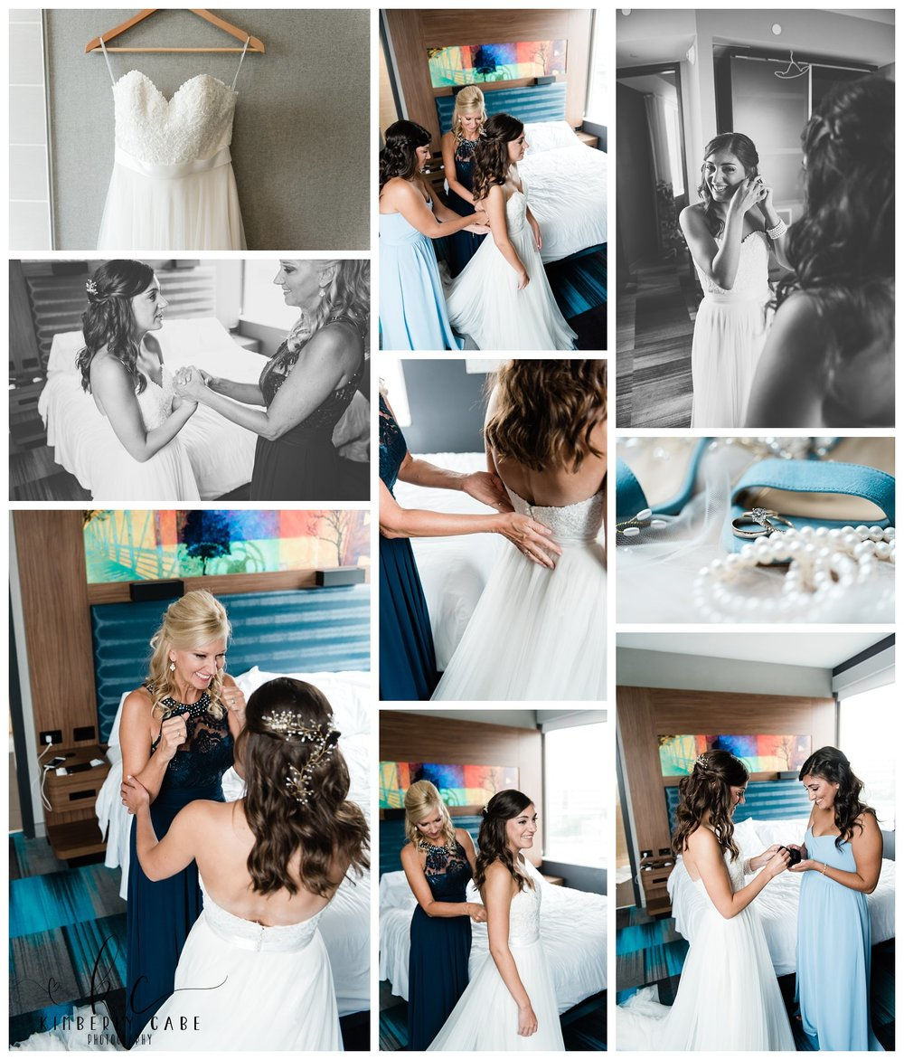 Bride getting ready Greenville SC