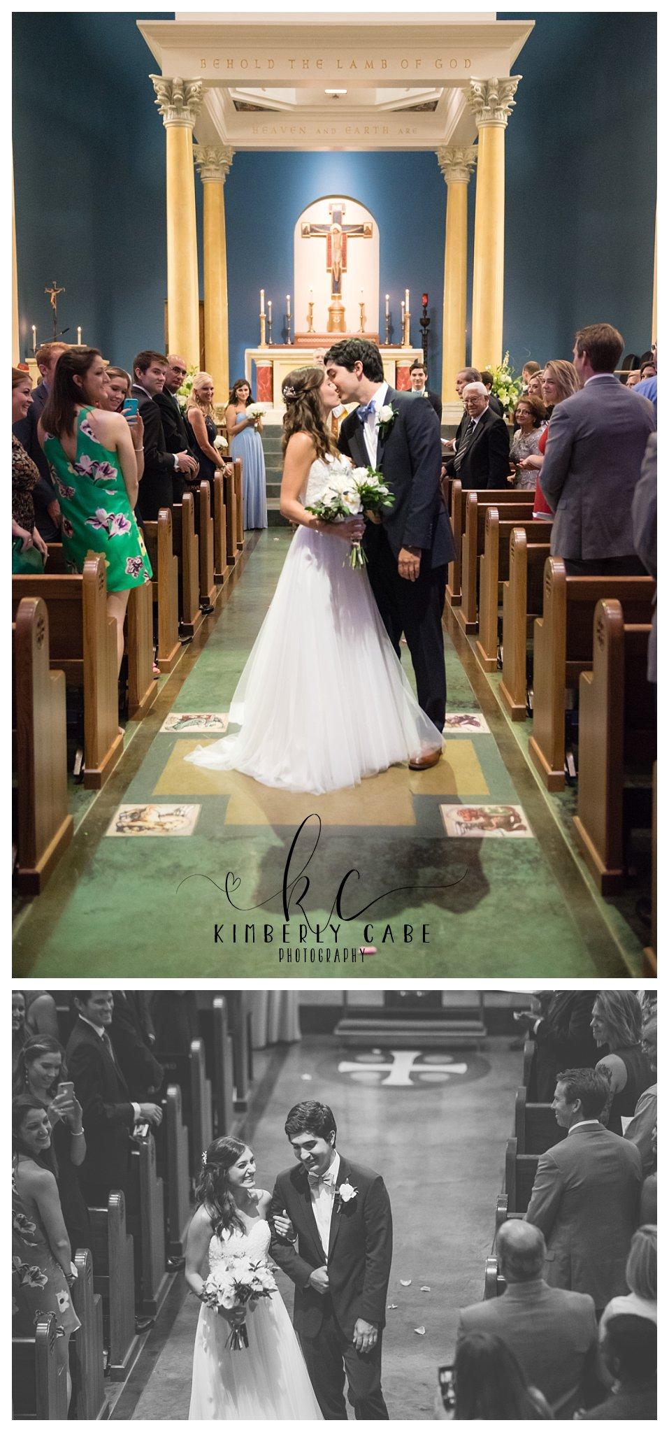 First Kiss Greenville SC Wedding