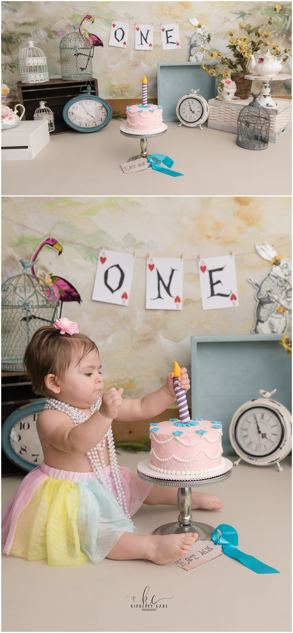Greenville SC one year session and cake smash session