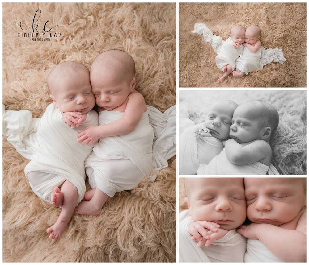 Greenville SC twin newborn photographer
