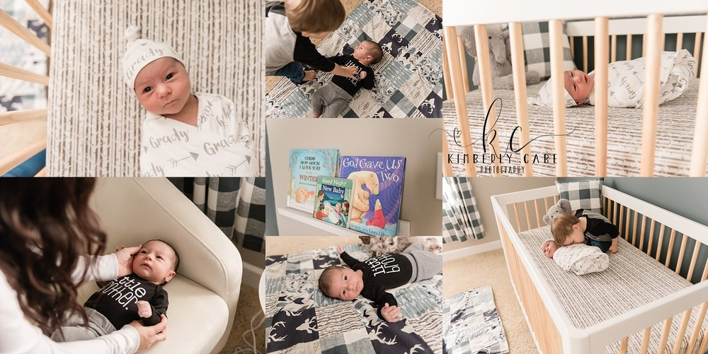lifestyle newborn session in Greenville South Carolina