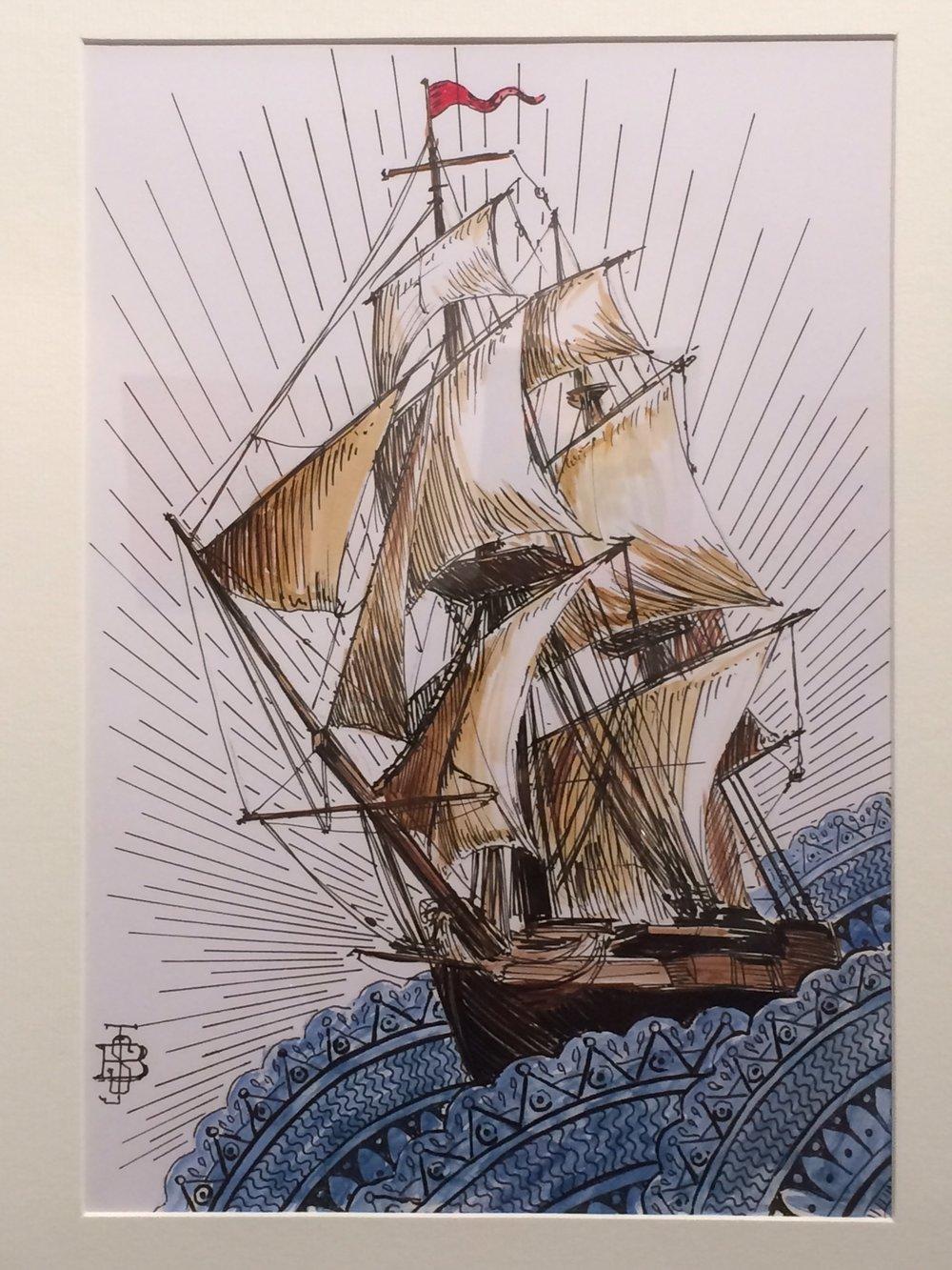 'Tallship' - £300 (framed)