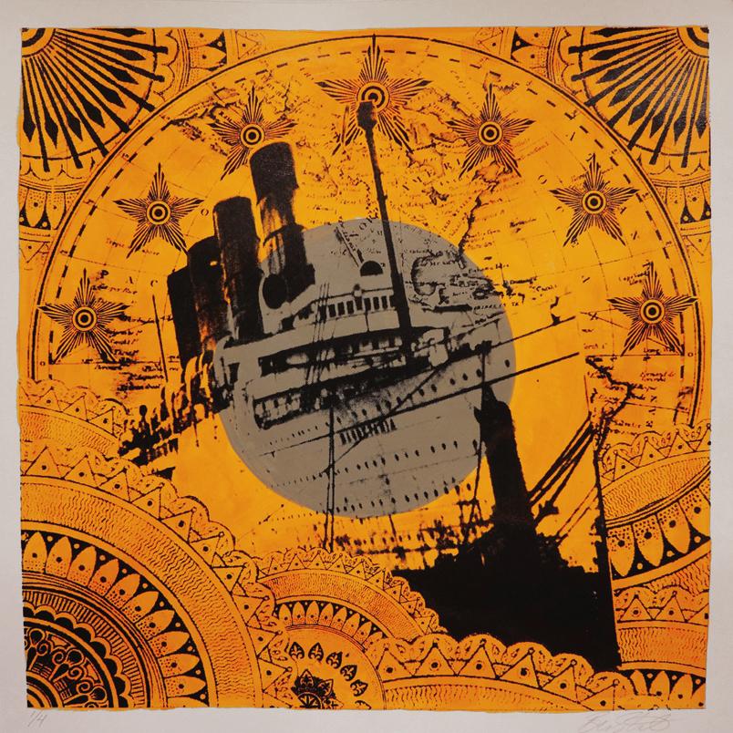 Nautical Flag: India -  £150 (framed)