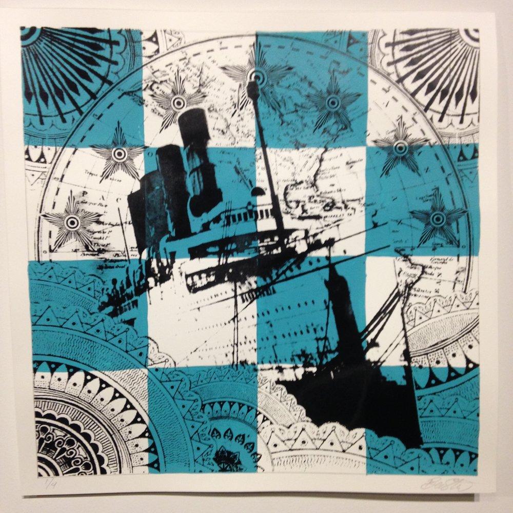 Nautical Flag: November - £150 (framed)