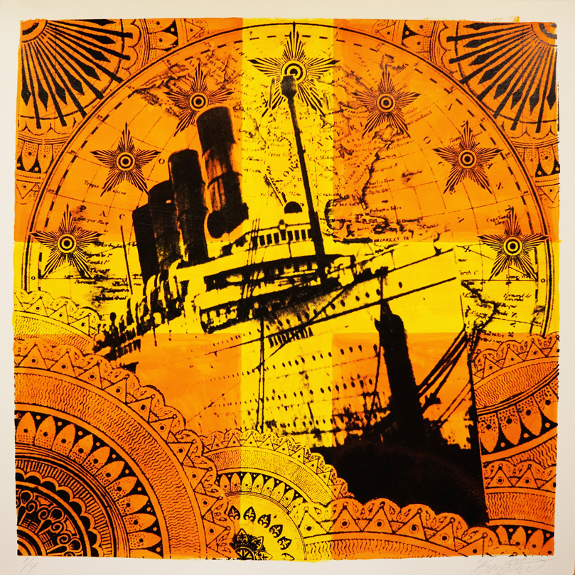 Nautical Flag: Romeo - £150 (framed)