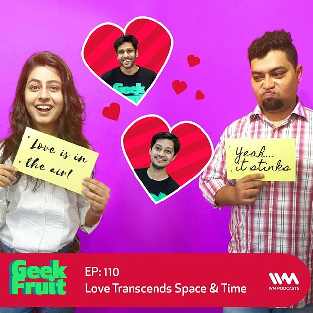 It's #ValentinesDay, and to commemorate this occasion, @tejasmenon1989, @shortroundmusic, @houseofnoronha and @jaanam_d get together to talk about falling in love with #ArtificialIntelligence, what romance in the future could look like, #SpaceSex, and more! They also 'ship' #SciFi characters from different franchises. Did your favourites make it to the list?  But before that, Navin has some news for everybody. Tune in to ivmpodcasts.com/geekfruit to find out!