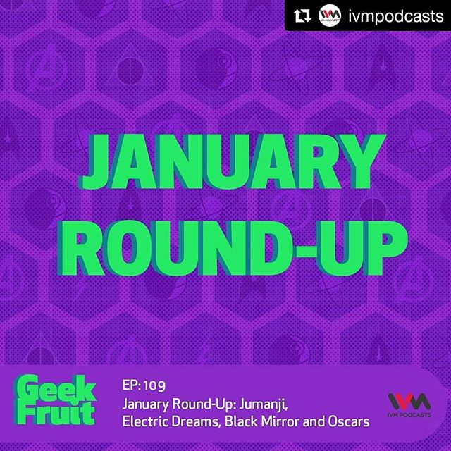 #Repost @ivmpodcasts (@get_repost) ・・・ In this episode of @geekfruithq, @tejasmenon1989, @dinkardv and @houseofnoronha sit down to rewind what they consumed in #SciFi and films in the month of January.  Also, tell us your thoughts on #Jumanji, #ElectricDreams, and the new season of #BlackMirror in the comments.  Listen on ivmpodcasts.com/geekfruit