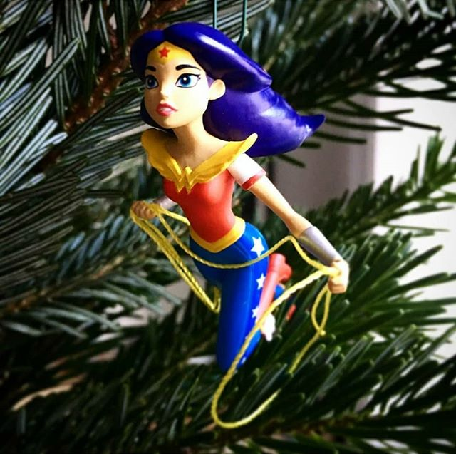 All I want for Christmas is this tree ornament.  #wonderwoman #dccomics