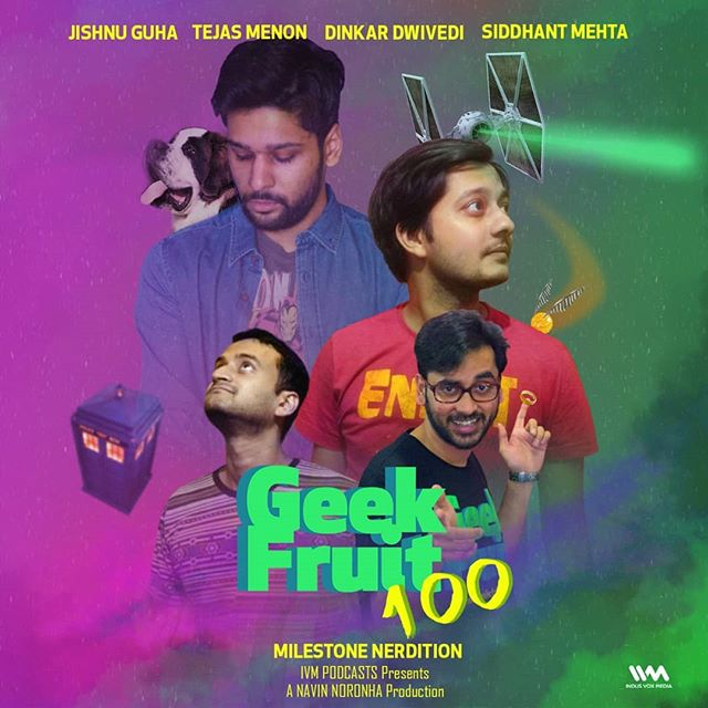 Geek Fruit goes live for it's 100th episode spectacular! Listen to the gang (try to) remember their greatest hits, talk about the state of geekdom with Abhijit Kini, and play some games with very hazy rules. It's the weird and rambling journey of the past 99 episodes crammed into one event.  Big thanks to Amit Kulkarni/Culture Shoq Productions for recording the show live on location at The Cuckoo Club, Bandra.  Listen now wherever you can listen to podcasts or your favourite podcasting app.
