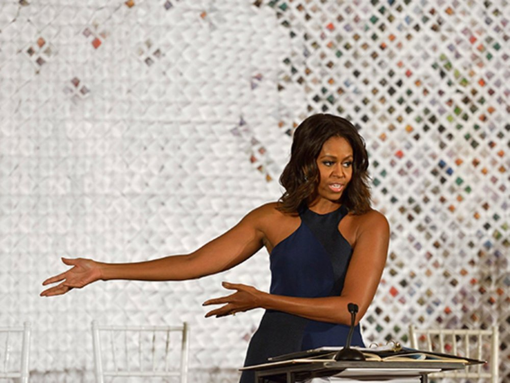 Architectural Digest   First Lady Michelle Obama invites Parsons Scholars to decorate the White House