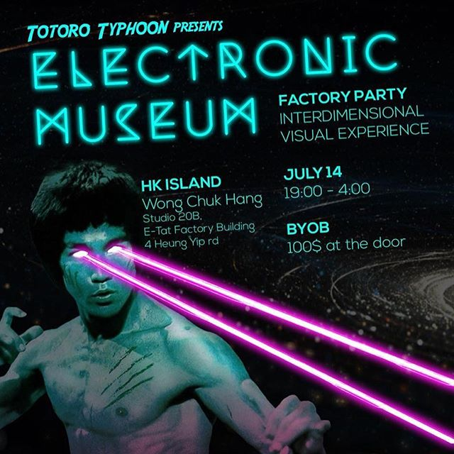 Finu will be making a mural for this Saturday's Totoro Typhoon Electronic Museum in collaboration with the one and only @hugoyunus. Come experience this one of a kind intergalactic dimension and don't forget to bring your laser proof glasses and shiny space suit. 👾🚀👽