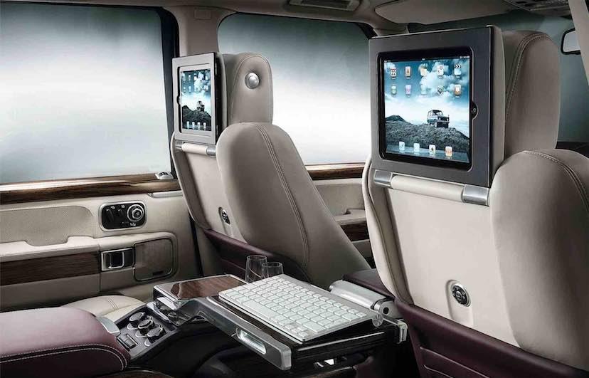 Two ten-inch TV screens -