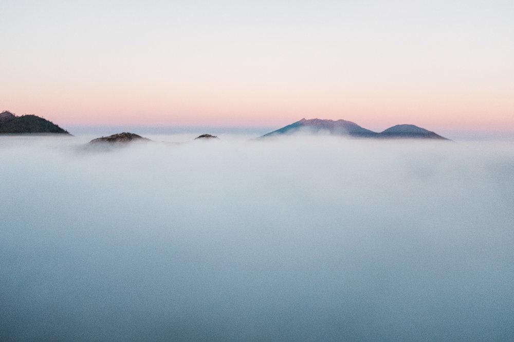 Sonnenaufgang auf dem Vulkan Ijen