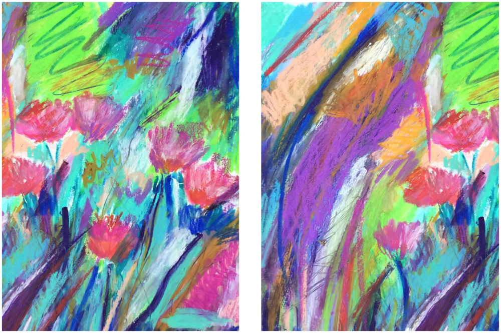 I cropped the sketch of the Flowers into two sketches with works much better