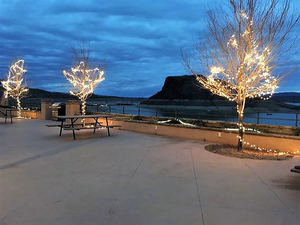 Patio outside our Art Studio overlooking Elephant Butte Lake