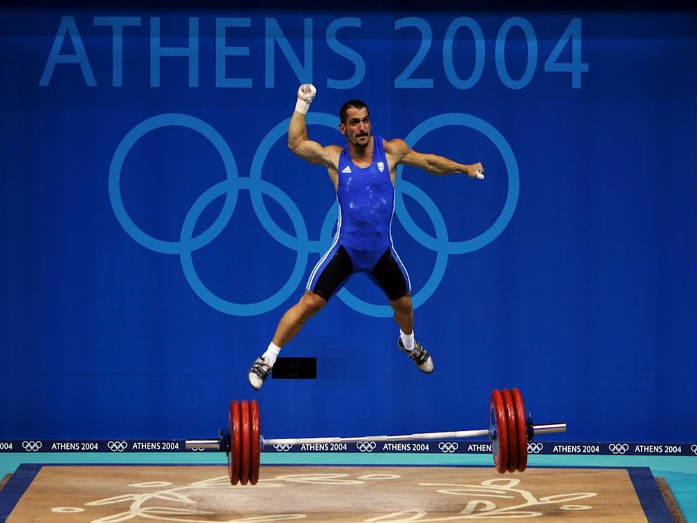 Pyrros Dimas 2004 Olympic Games Snatch