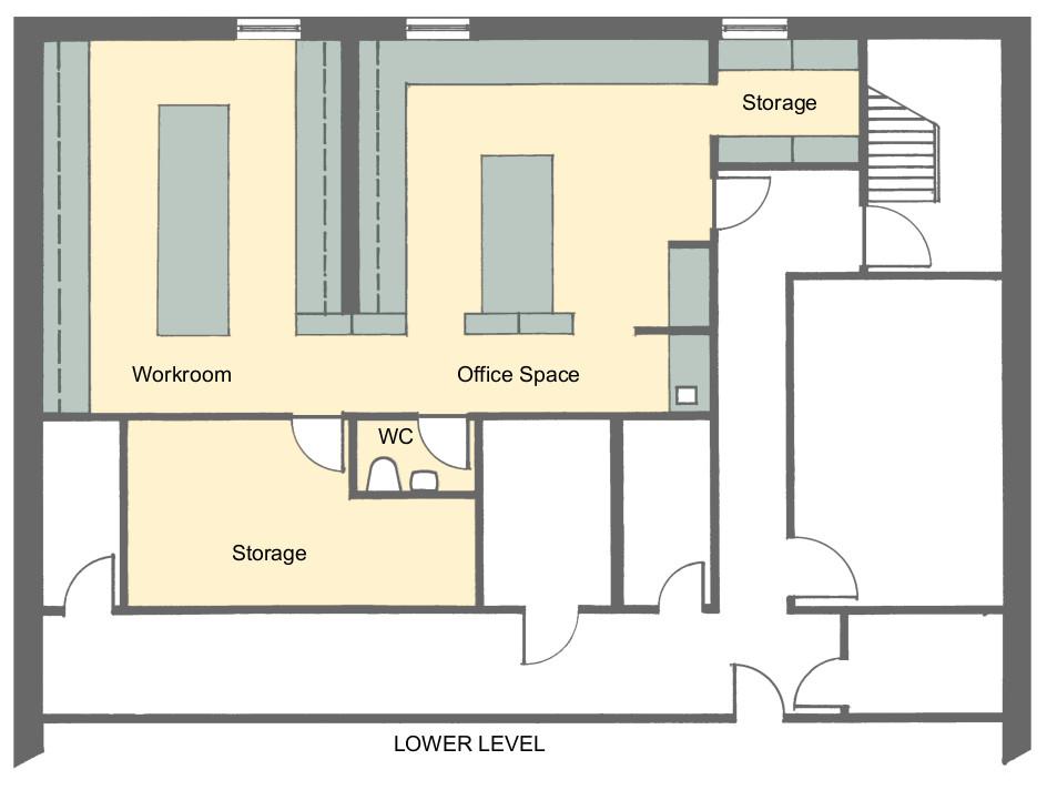 Second level floorplan