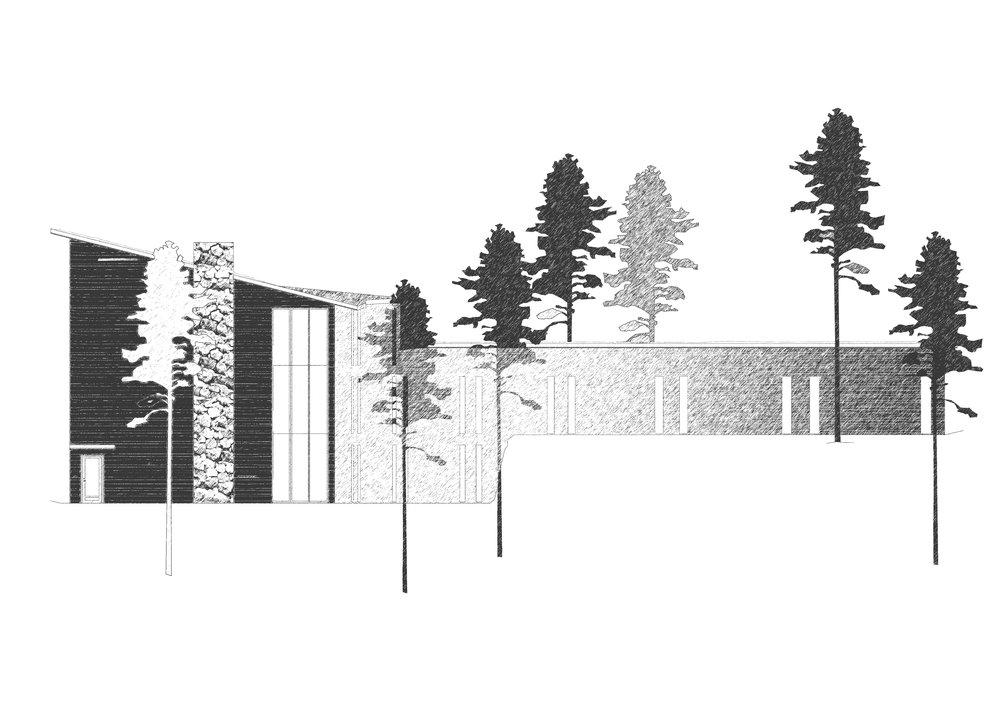 entréfasad svartvit skiss hotell Lida friluftsgård.jpg