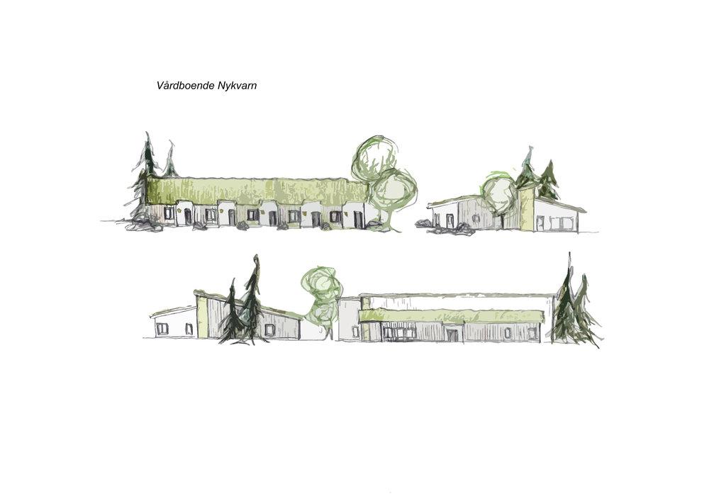 Vårdboende Nykvarn, skissade fasader.jpg