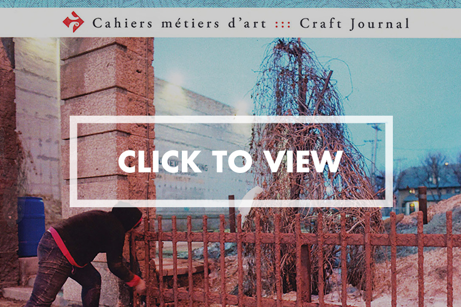 Cahier de Metier D'Art/Craft Journal  Volume 7 No 2 Winter 2015 Crafting A History:The Black Gold Tapestry by Jennifer E. Salahub, PhD