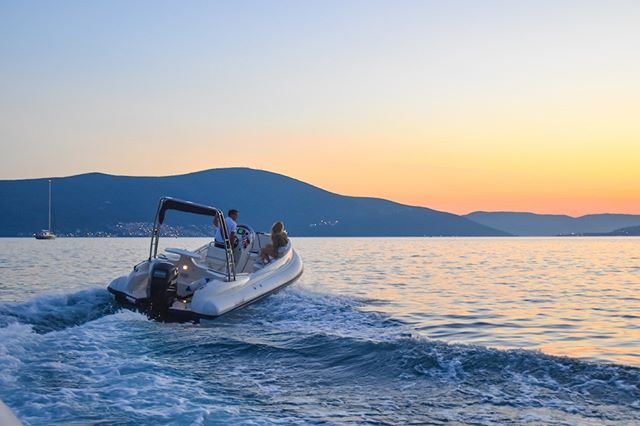 Enjoy most beautiful sunsets with bottle of Prossecco cruising along the coastline of Boka Bay! . . For more info upon charter please visit our website: watertaxi.info or  contact us: info@mwtribs.com . . #mwtribs #mwttour #boatcharter #bokabay #scannerboats #scannerenvy630 #envy630  #mwttour #adventure #perast #kotor #ribs #sunset #charter #boating #yachting #tivat #discover #hercegnovi #yachtcharter #boatlife #montenegro #speedboat #explore #watertaxi #boattransfer #mwt