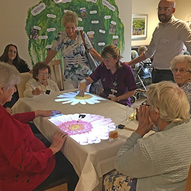 "The new ""Magic table"" at Anchor's Willow Gardens in Yateley @Anchor_Trust  http://ow.ly/9v1U50j5ckr"
