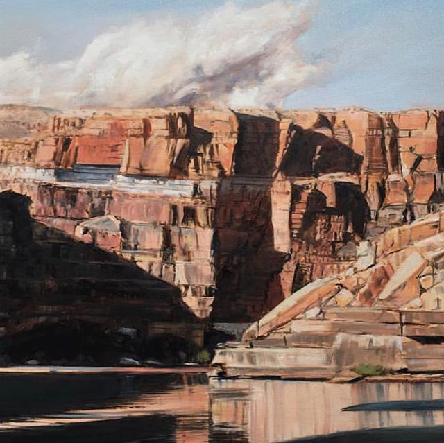 #landscapeartist @darrellbthomas capturing the landscapes of the America. Only 2 days left to visit him in his studio @azfineartexpo and purchase directly from the artist himself!  #azfinearts #artgallery  #realismart #artevents  #contemporarypainting  #creative #arts #design #artistic #love #interiordesign #artstudio #landscapepainting #color #instagood #wip #realism #contemporary  #nature #beautiful #artlovers #artforsale