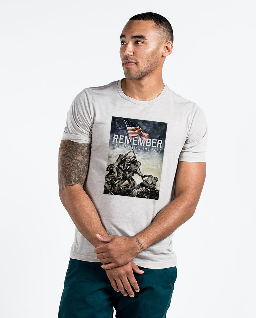 D5005993-REMEMBER_KeepRaisingtheFlag-NA-NL-6200-MensPolyCottonCrew-Mens-Silver.jpg