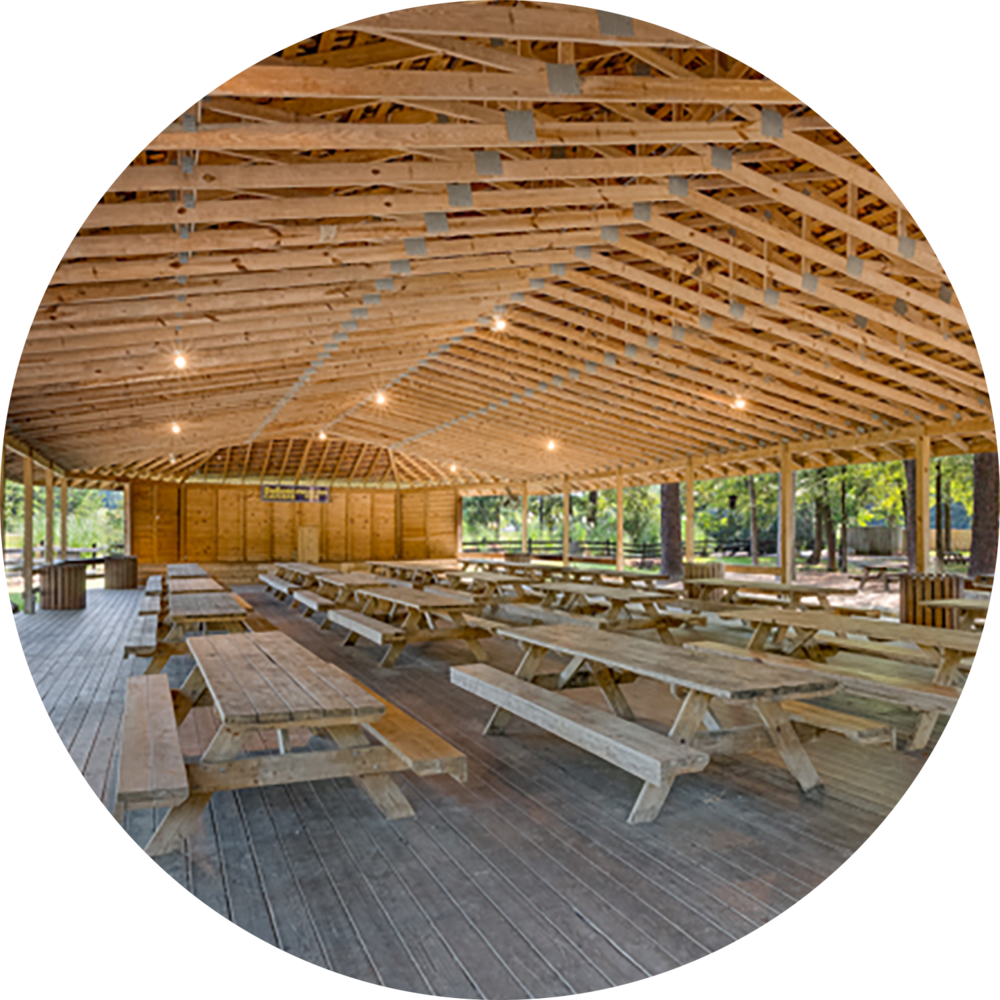 Pavilion rentals for family reunions at DeSoto Caverns