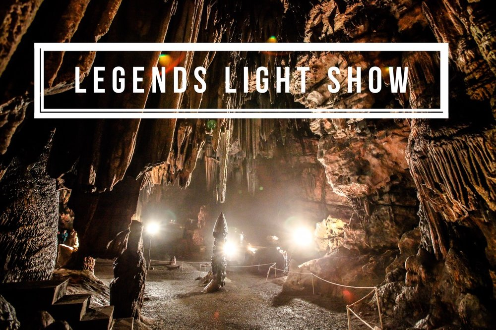 Legends Light Show at DeSoto Caverns
